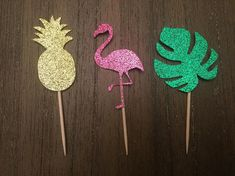 This listing is for Tropical cupcake toppers. Perfect for your Tropical/Flamingo/Pineapple themed party. Each cut out is approx. 2 inches in size. Each topper is made from premium glitter card stock. Fruit Birthday, Hawaiian Birthday, Flamingo Birthday, Flamingo Party, Tropical Cupcakes, Flamingo Cupcakes, Tropical Party, Flamingo Baby Shower, Hawaiian Party Decorations