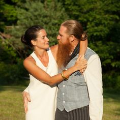 Chadwick and Duffy at their wedding, in upstate New York, 2014. Courtesy of Chadwick and Duffy.-Wmag
