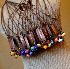 Copper Stick and Beads by Tracy Bell