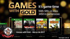 Março já está chegando e com ele mais uma leva de jogos para os assinantes da Live Gold.  #Microsoft #GamesWithGold #LiveGold #LayersOfFear #Evolve #Borderlands2 #HeavyWeapon #XboxOne #Xbox360 #VaoJogar #VideoGames #Games