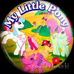 Retro Toy Badge/Magnet - My Little Pony Annual 1993 www.powdermonki.co.uk