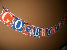 Denver Broncos Football Banner
