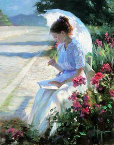 Blue day Vladimir Volegov art