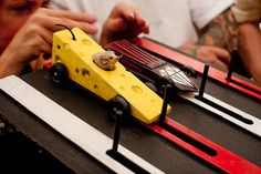 Cheese Car with the Cutest Driver @ Hell's Belles Car Club 4th Annual Pinewood Derby, via Flickr.