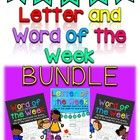 This mega bundle contains well over 1,000 pages of work for a week for every letter in the alphabet and every word in the Dolch Pre-Primer and Prim...