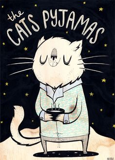 Cats Pyjamas by Anna Johnstone...31-1-13 me at home with flu. Happy new year to all my followers. Sara :-)