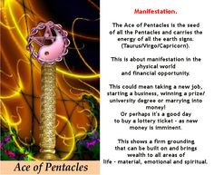ACE OF PENTACLES #tarotcardmeaning