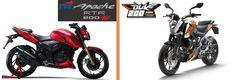 TVS Apache RTR 200 4V vs KTM Duke 200