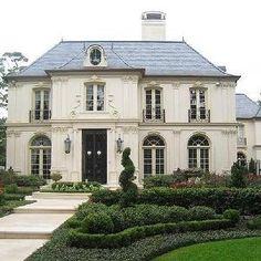 Robert Dame Designs - home exteriors - French Chateau,  French home exterior