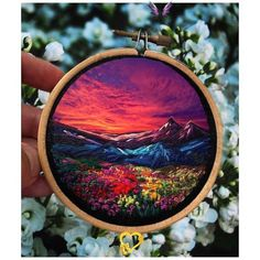 Embroidery art By Shimunia | ARTWOONZ Art - Artwoonz  <br> Embroidery art by Shimunia. With the rapid expansion of the digital world, the value of hand made elements and artefacts with nostalgic values. Hand Embroidery Stitches, Embroidery Hoop Art, Crewel Embroidery, Hand Embroidery Designs, Embroidery Techniques, Cross Stitch Embroidery, Machine Embroidery, Embroidery Ideas, Knitting Stitches