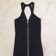 Black pencil dress New no tag! Never worn bc it's to big for me it's size large.  It's a beautiful dress sparkling black and zipper on the front! Love Culture Dresses