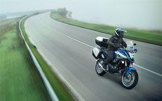 Download wallpapers Honda NC750X, 4k, road, 2018 bikes, biker, japanese motorcycles, Honda