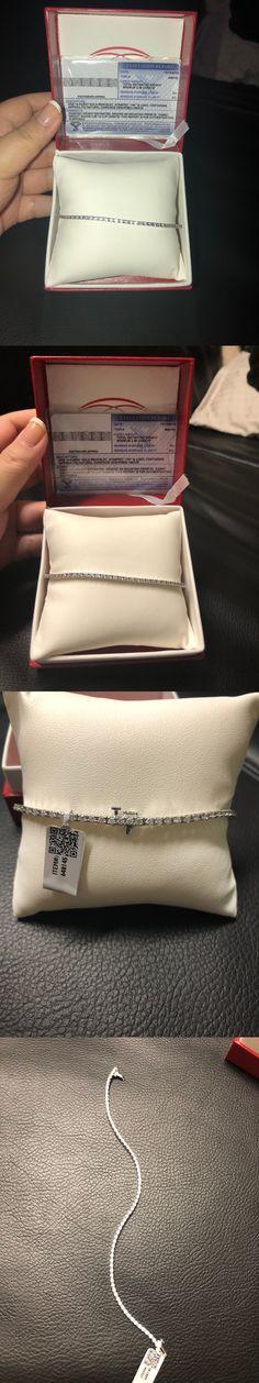 Diamond 10976: Stunning Diamond Tennis Bracelet White Gold 14Kt 2.26 Ct $3999 Nwt -> BUY IT NOW ONLY: $599 on eBay!