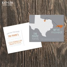 Business moving announcement note card word template publisher weve moved post card texas map accmission Choice Image