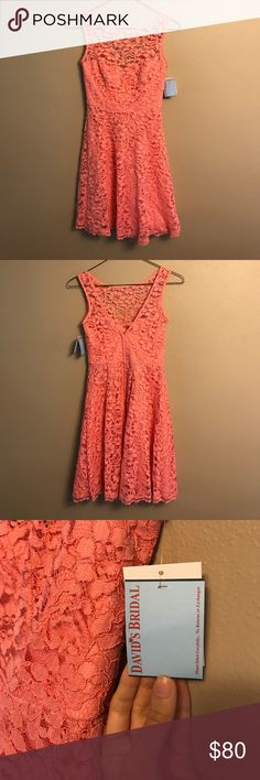 NWT🌸 David's Bridal Bridesmaids Dress Excellent condition. Would be cute summer dress, looks great with jean or leather jacket. David's Bridal Dresses Midi