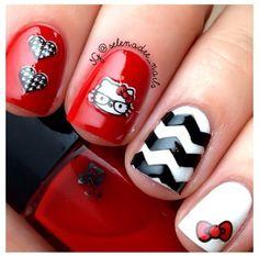 Hello Kitty nails                                                       …
