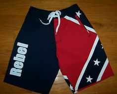 993d4c56ba Rebel flag board shorts Confederate swimming trunks XXL - DIXIE SWIMWEAR -  2XL | eBay