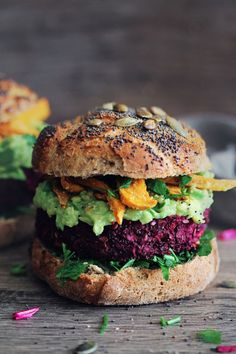 There's nothing bland about this veggie burger. Get the recipe from The Awesome Green.