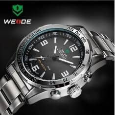WEIDE WH1009 LED Date Multifunction Men Quartz Wrist Watch