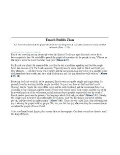 Chocolate on my Cranium: Enoch Builds Zion