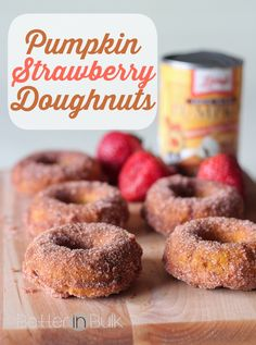 I will be making these pumpkin-strawberry donuts again and again….and I'm already brainstorming ways I can add pumpkin to some of my favorite savory dishes. #PumpkinCan