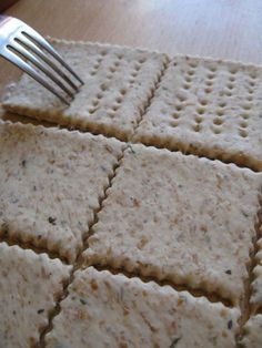 Crackers con esubero pasta madre