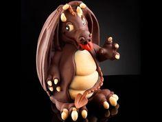 Molde de chocolate Huevo Dragón