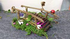 Fairy Garden Grapevine Bridges Handmade Miniature with Moss