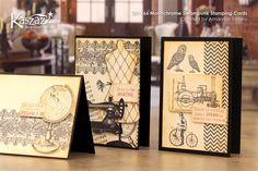 2H1166 Monochrome Steampunk Stamping Cards