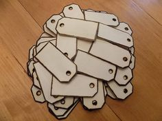 Party Favor Wood Tags Unfinished Set Of 25 for your Wishing