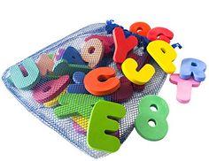 BUY NOW Bath Letters And Numbers With Bath Toys Organizer by Freddie and Sebbie Luxury 36 Piece Set of Bath Foam