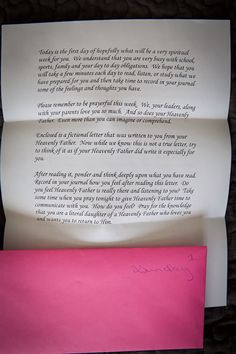 "Week of letters to YW for ""Daughter of God"" week from Shawni Eyre Pothier's blog 71 Toes."