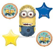 minion+party+supplies | ... ME 2 Minions birthday party balloons decorations supplies new