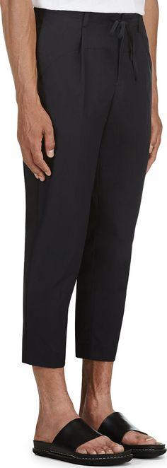 John Undercover - Navy Dual Shade Trousers | SSENSE