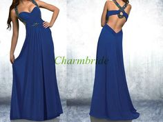 2014 long chiffon prom dresses with Rhinestonesexy by Charmbride, $139.00