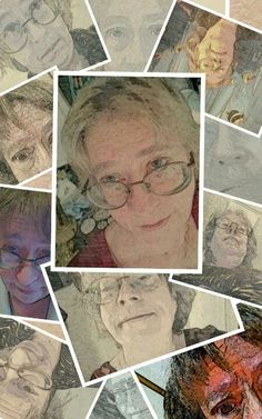 Self Portrait, Collage - V. Castellanos, March 2013