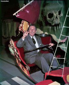Walt Enjoying Peter Pan ride