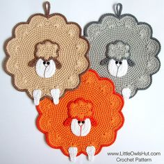 Ravelry: 053 Sheep decor, pannenlap, kussen patroon door LittleOwlsHut
