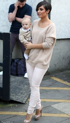Melting hearts: Little Parker Bridge went with his mother, The Saturdays singer Frankie Sandford, to the ITV studios on Wednesday