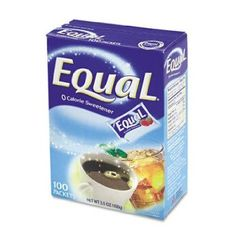 Equal Zero Calorie Sweetener 1 g Packet 12 Box/Carton (Sugar Substitute), White Cold Drinks, Beverages, Sugar Substitute, Break Room, Fruit And Veg, Vitamins And Minerals, Gourmet Recipes, Lemonade, Equality