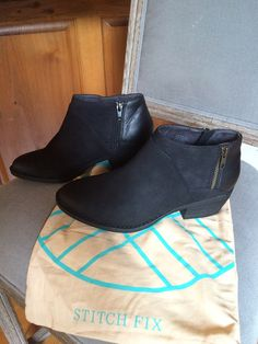 Fix booties! from BC Footwear. Union Contrast Material Booties in blackStitch Fix booties! from BC Footwear. Union Contrast Material Booties in black Stitch Fit, Stitch Fix Fall, Black Ankle Boots, Black Booties, Fix Clothing, Boating Outfit, Stitch Fix Outfits, Stitch Fix Stylist, Suede Booties
