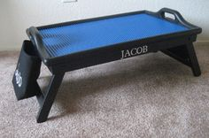 DIY Lego table. What an idea using a lap tray!