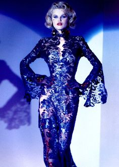 Most popular tags for this image include: 1992, dress, Eva Herzigova, haute couture and runway