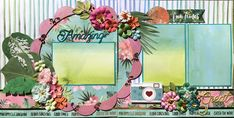 Scraplift this for Christmas using poinsettias and seasonal paper