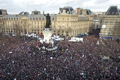 Today in Paris, Muslims, Jews, Christians and gays marched in the largest rally since the Liberation [via @lemondefr]