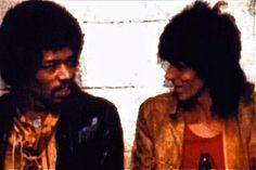 Jimi Hendrix & Keith Richards