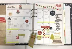 Carpe Diem Planner December Monthly Spread - Scrapbook.com