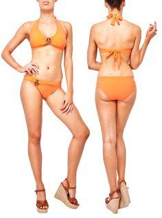 Sakari halter bikini orange