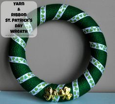 We don't do a whole lot of St Patrick's Day crafts in our house. I try to always change the wreath on the door though so I made a new wreath this year.