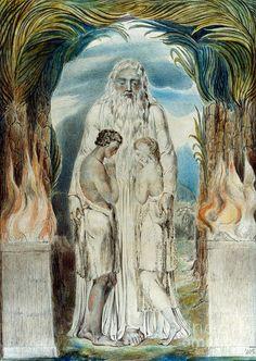 sex-death-rebirth:  William Blake - Adam + Eve